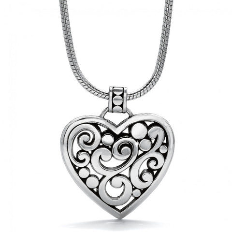 Contempo Heart Necklace SIL - SIL - Judee's