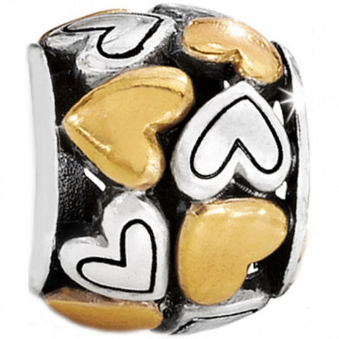Gold & Silver Romantic Heart Bead