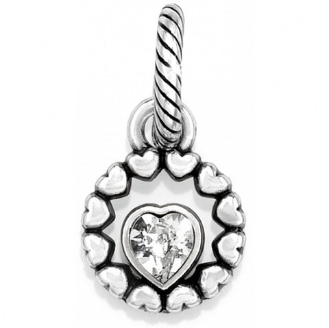 Brighton J98852 Ring Of Love Charm Silver