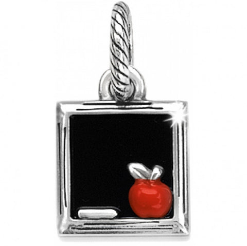 Blackboard Charm W/Silver-Plated Frame & Apple