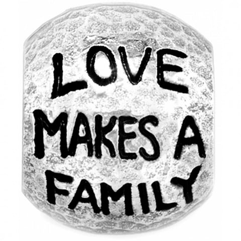 Silver Love Family Bead
