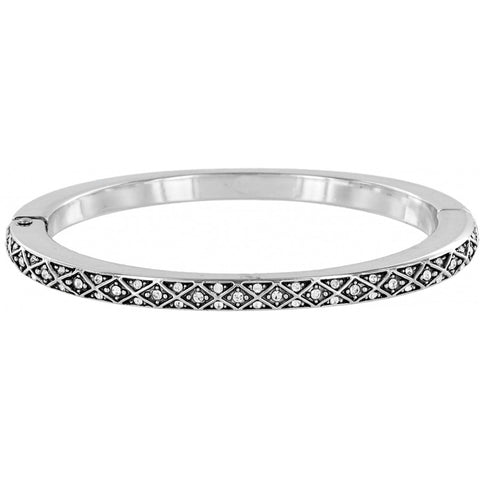 Diamond Hinged Bangle SIL - SIL - Judee's