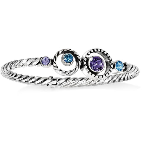 Halo Hinged Bangle - Judee's