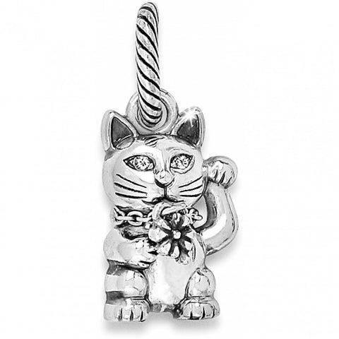 Good Luck Fortune Kitty Charm Silver