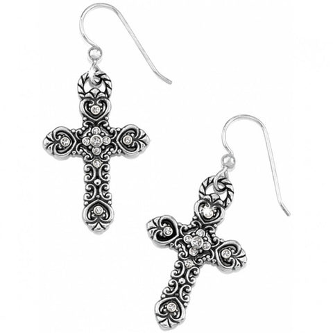 Isabella Cross French Wire Earrings - Judee's