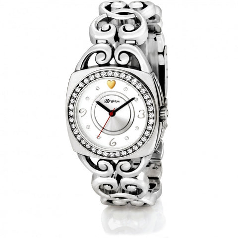 Open Scroll Band Watch Silver