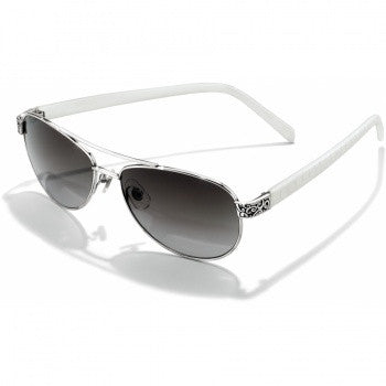 Sugar Shack Sunglasses, White - Judee's