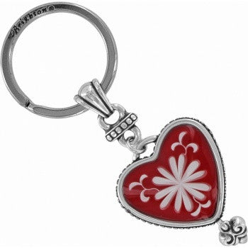 Water Lily Key Fob, Red - Judee's