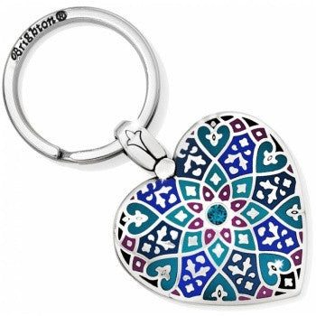 Zahra Heart Key Fob, Multicolor - Judee's