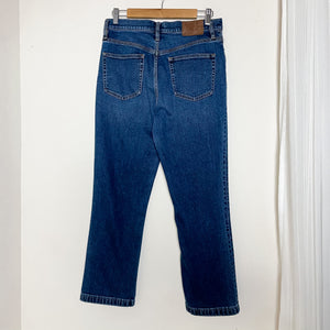 J. Crew Billie Demi Boot Crop Blue Jeans High Rise 30