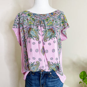 Anthropologie Silk Paisley Blouse L