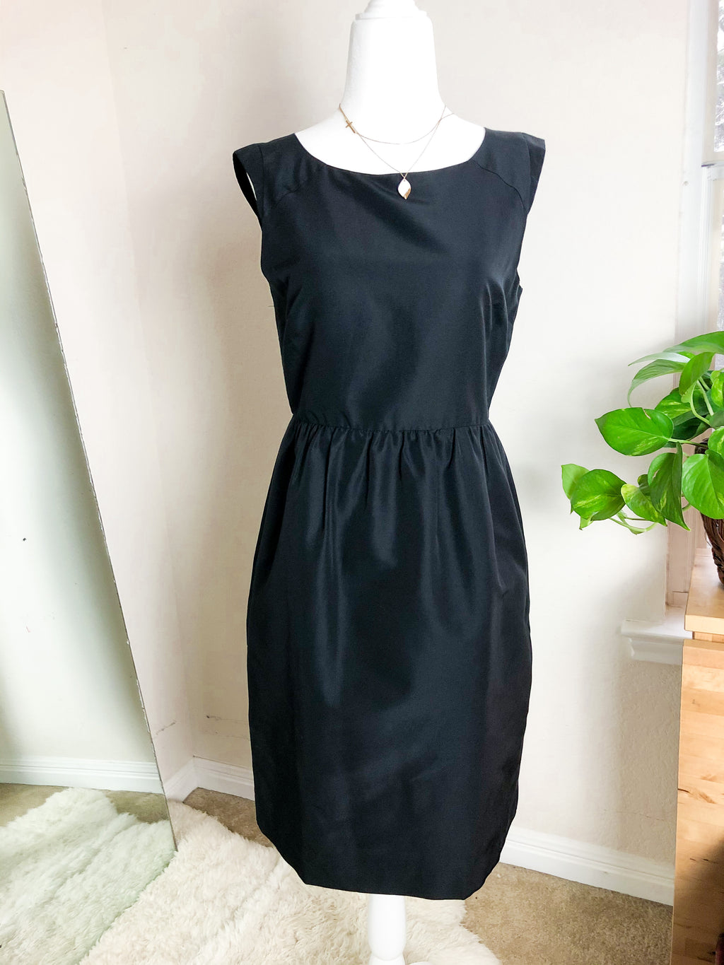 J. Crew Silk Blend Little Black Dress
