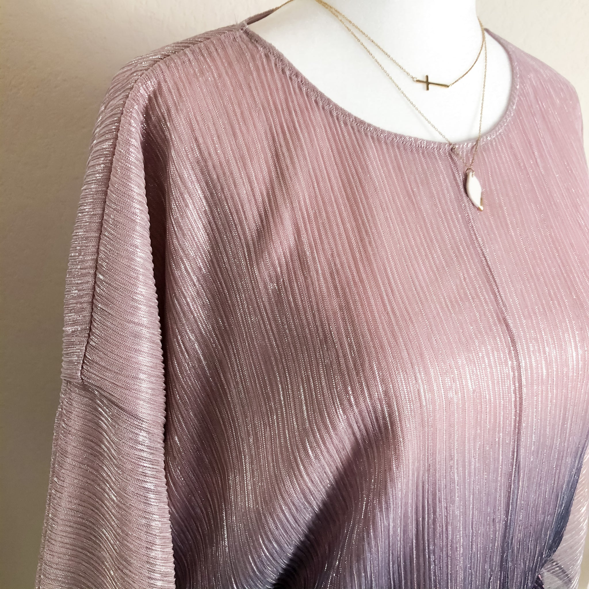 Anthropologie Ombré Glitter Dolman Sleeve Top