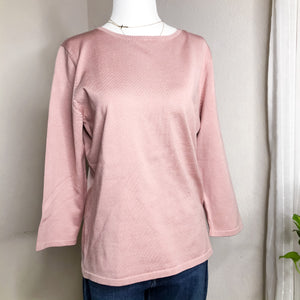 Pendleton Pink Silk Blend Lightweight Sweater
