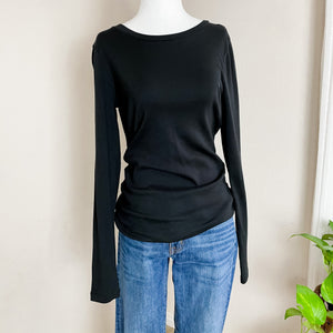 J. Crew Black Basic Long Sleeve Top