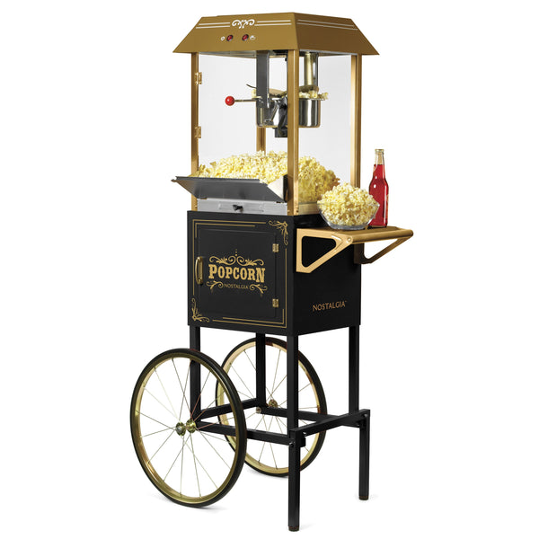 Vintage 10-Ounce Vintage Professional Popcorn Cart - 59 Inches Tall - Black