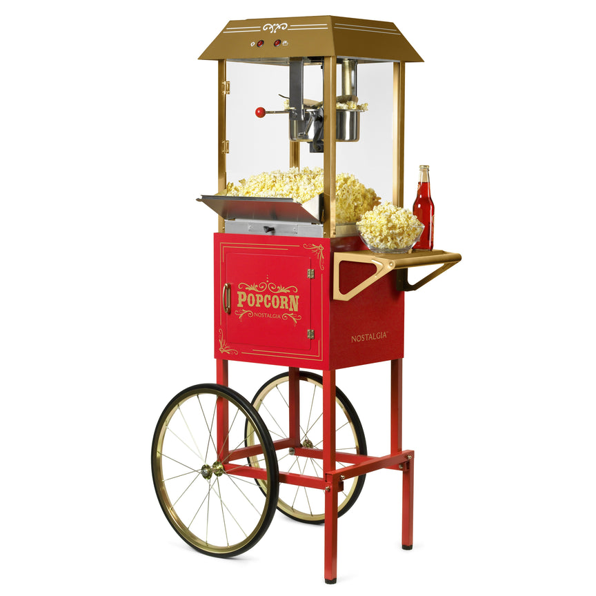 Vintage 10-Ounce Professional Popcorn Cart - 59 Inches Tall