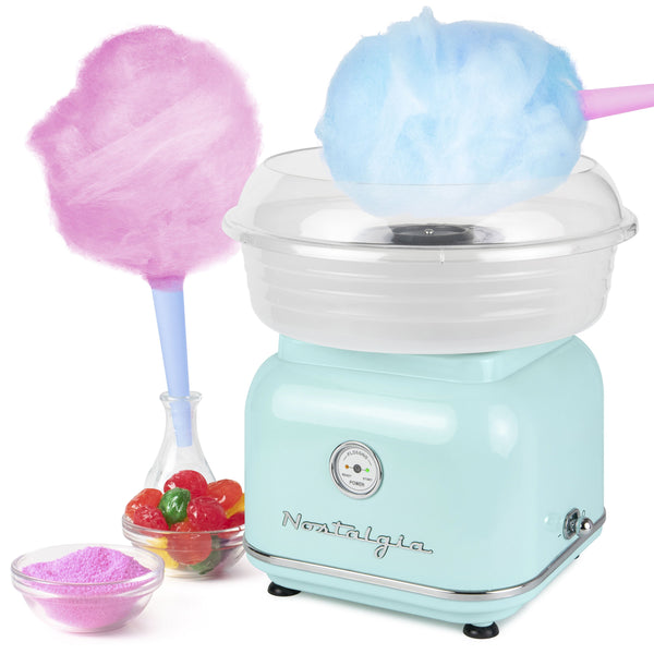 Classic Retro Hard & Sugar-Free Candy Cotton Candy Maker, Aqua