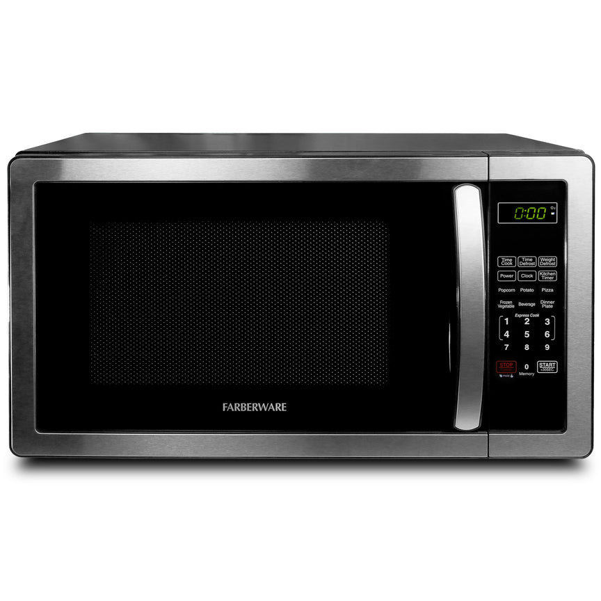 Farberware Classic 1.1 Cu. Ft. 1000-Watt Microwave Oven, Stainless Steel
