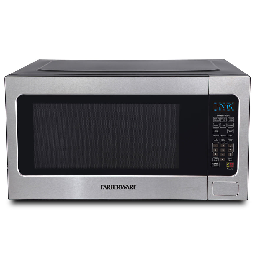 Farberware Professional 2.2 Cu. Ft. 1200-Watt Microwave Oven with Smart Sensor Cooking, Stainless Steel