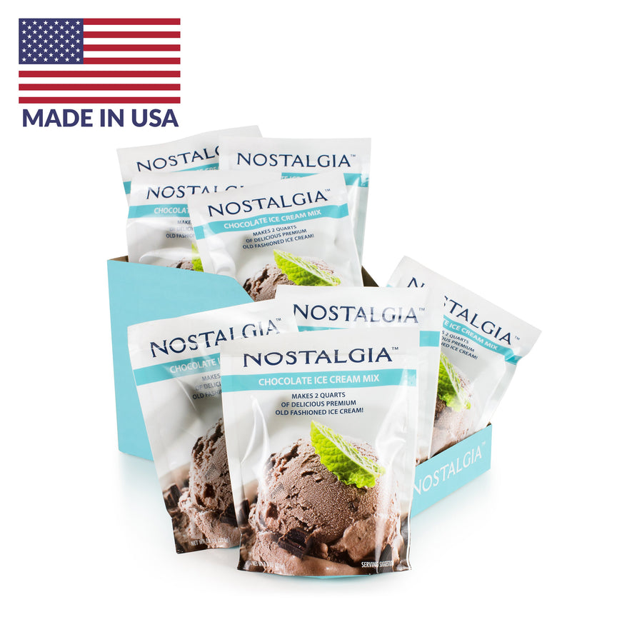 2-Quart Homemade Premium Chocolate Ice Cream Starter Mix (8-Pack)