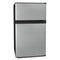 Igloo® 3.1 Cu. Ft. Stainless Steel Double Door Refrigerator With Freezer