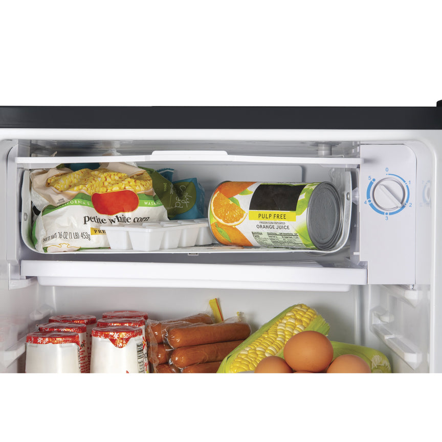 IGLOO® 3.2 Cu. Ft. Classic Compact Single Door Refrigerator Freezer w/ Chrome Handle & Bottle Opener - Black