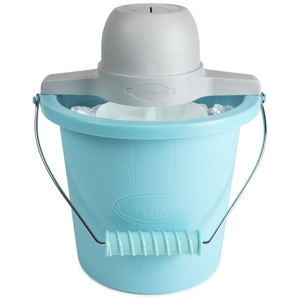 4-Quart Electric Ice Cream Maker with Easy-Carry Handle