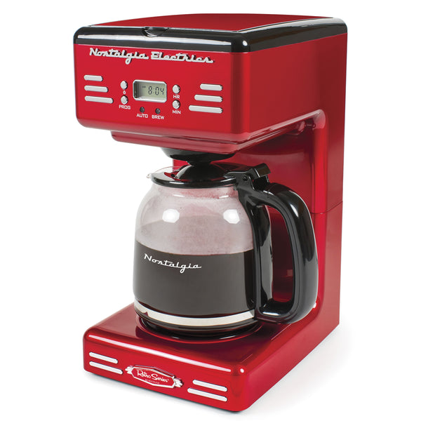 New & Improved Retro 12-Cup Programmable Coffee Maker With LED Display
