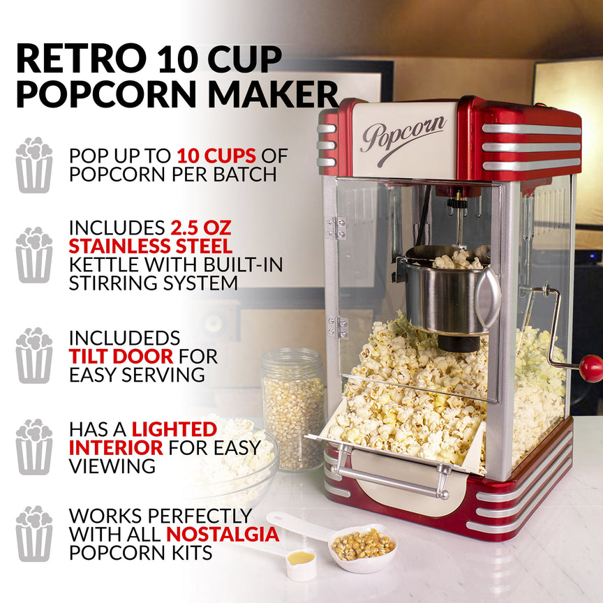 2.5-Ounce Retro Tabletop Kettle Popcorn Maker