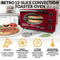 Retro 12-Slice Convection Toaster Oven, Red