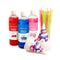 Premium 16-Ounce Snow Cone Syrups, Cups and Spoon-Straws Party Kit