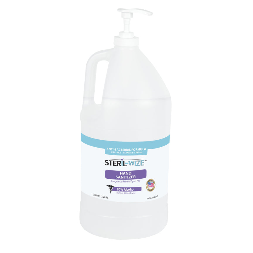 Steril-Wize 1-Gallon Refillable Size Hand Sanitizer With Moisturizers, 80% Alcohol
