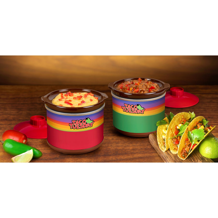 Taco Tuesday Two 0.65-Quart Mini Fiesta Dippers