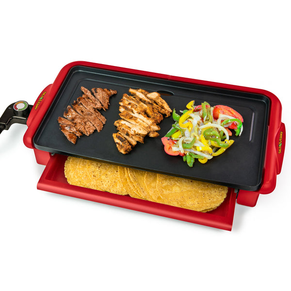 Taco Tuesday Nonstick Fiesta Griddle With Warmer