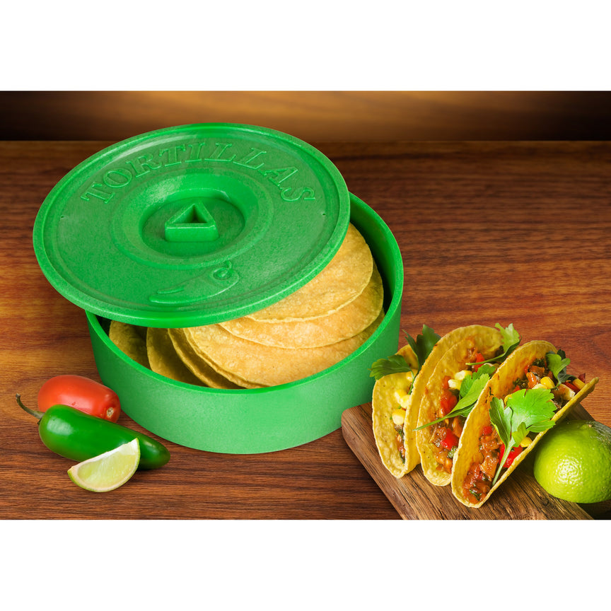 Taco Tuesday 8-Inch Tortilla Warmer, Green