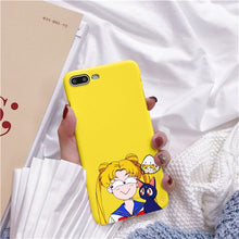 Load image into Gallery viewer, Rose Japonês Sailor Moon Kawaii Cat Caso de Telefone Para o iphone 6 Puls S 7 8 Puls X