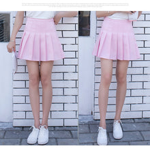 Load image into Gallery viewer, kawaii Denim solid a-line sailor Skirts Japanese school uniform Mini Skirts