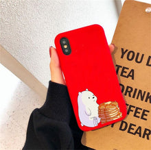 Load image into Gallery viewer, Phone Case For iphone 11 Pro Max X XS Max XR 6 6S 7 8 Plus Soft TPU Kawaii Bear Panda Pattern candy Cases Cover