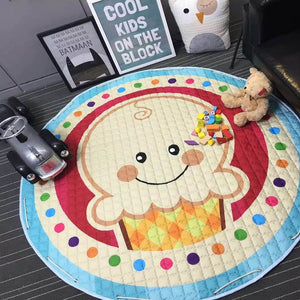 Colorful Children Playing Blanket Toy Storage Bag Kid's Toy Organizer Baby Kawaii Carpet