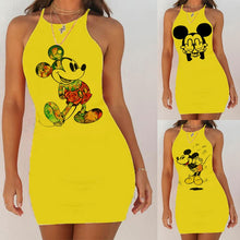 Load image into Gallery viewer, Kawaii Mouse Print Backless Bodycon
