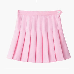 kawaii Denim solid a-line sailor Skirts Japanese school uniform Mini Skirts