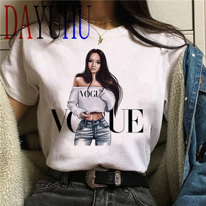 Vogue Princess Harajuku T Shirt Women Cute T-shirt 90s Fashion
