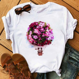 Kawaii Short Sleeve Female T-shirt