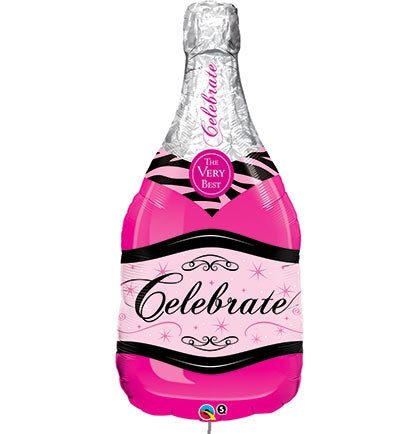 "39"" Celebrate Pink Champagne Bottle Balloon"