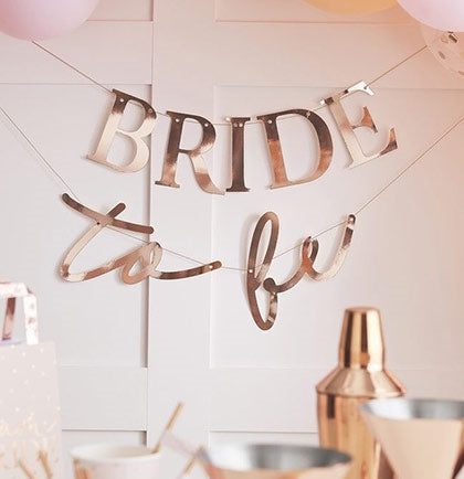 5ft Bride to Be Rose Gold Banner