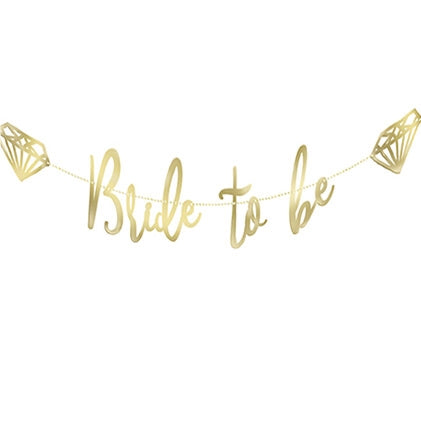 Gold Metallic Bride to Be Banner