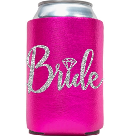 Bride Silver Diamond Metallic Can Cover
