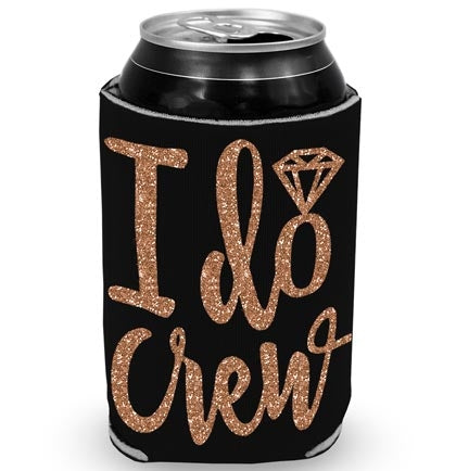 I Do Crew Diamond Rose Gold Glitter Can Cover