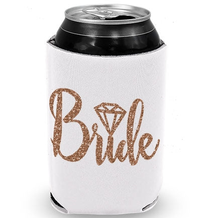 Bride Diamond Rose Gold Glitter Can Cover